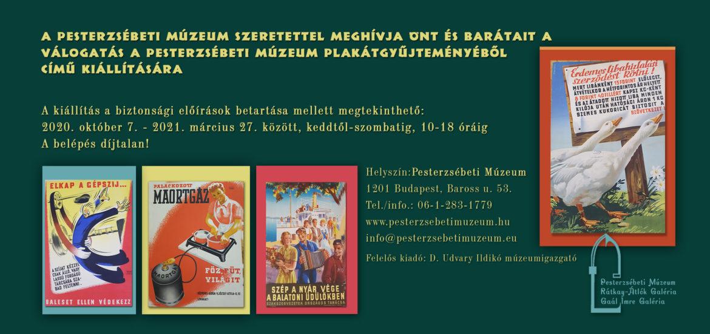 Plakátkiállítás Pesterzsébeten